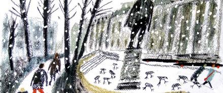 Художница Алиса Юфа нарисовала для «Дневника» рисунок про Новый год!