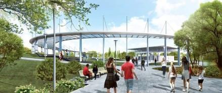 Реконструкция в парке «Зеленый остров» Омска будет продолжаться до октября