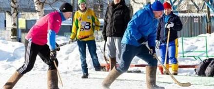 В Архангельске прошел турнир по хоккею на валенках