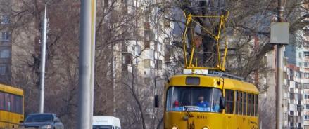 Акция, приуроченная к запуску распространения газеты в салоне трамваев маршрута № 3