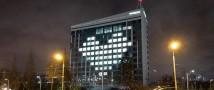 В Казанина здании «Татмедиа» зажглось сердце в знак благодарности работникам скорой помощи