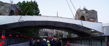 В зоопарке завершен монтаж пролёта нового моста