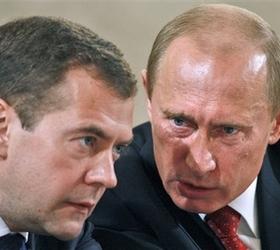 путин и медведев на выборах