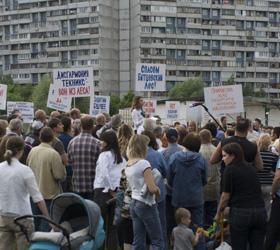 Защита от строителей- очередная акция протеста в Москве