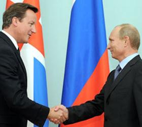 Британский премьер и Путин