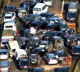 Крупная авария на дороге в штате Теннесси.