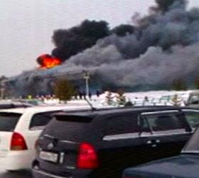 Полностью сгорел Красноярский аэропорт.