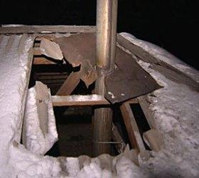 Обломок спутника упал на дом в Новосибирской области