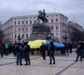В украинской столице антифашисты напали на шествие.