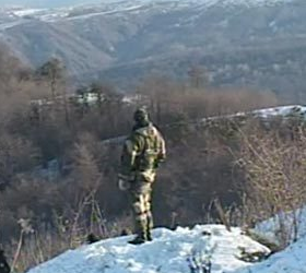 На чеченской границе были окружены боевики.