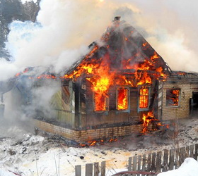 Под Ульяновском в пожаре погибли четверо маленьких детей.