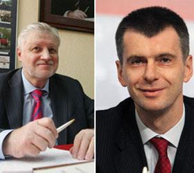 Михаил Прохоров и Сергей Миронов не собираются участвовать в предвыборных дебатах с представителями Владимира Путина