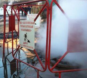 В Санкт-Петербурге из-за прорыва трубы возник 15 метровый фонтан кипятка