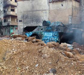 Возобновился обстрел сирийского города Хомс