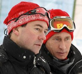 Путин и Медведев оправились в горы, для того чтобы обсудить новое правительство