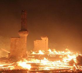 В Забайкальском крае  степной пожар уничтожил село