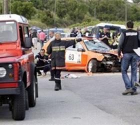 В Ирландии гоночный автомобиль врезался в толпу зрителей