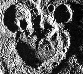 Силуэт Микки Мауса сфотографирован на Меркурии