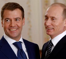 Деятельность Путина и Медведева одобряет все больше российских граждан