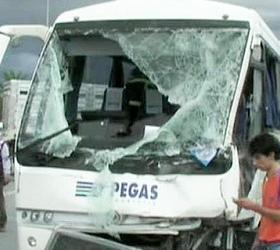 В Турции автобус с российскими туристами попал в аварию