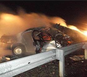 В Забайкалье при ДТП сгорели семь человек
