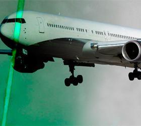 У Московских аэропортов замечены лазерные хулиганы