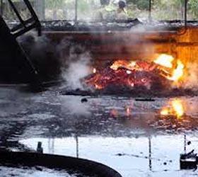 Загорелся завод с алюминиевой пудрой