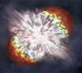 Ученые создали первую трехмерную модель взрыва сверхновой