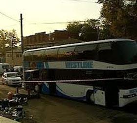 Поджог автобуса у Курского вокзала