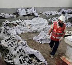 Пожар на пакистанской  швейной фабрике