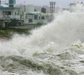 """От тайфуна """"Джелеват"""" пострадали сто японцев"""