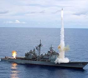 Атомная подлодка протаранила ракетный крейсер США