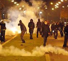 Массовые беспорядки вновь произошли в Мадриде