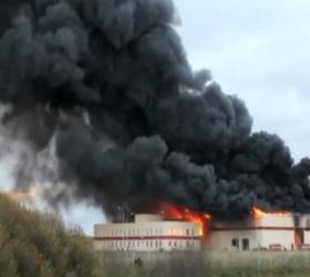В Новгородской области произошел крупный пожар