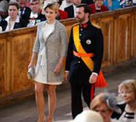 Свадьба наследного принца Гийом и бельгийской графини Стефани де Ланнуа