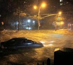 """Три города в штате Нью-Джерси затопил ураган """"Сэнди"""""""