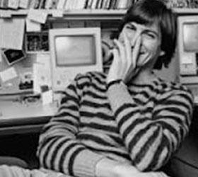 Стив Джобс на главной странице Apple