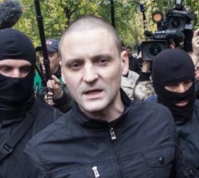 В ходе несанкционированной акции в центре столицы был задержан Удальцов