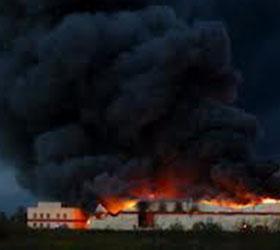Завод по переработке пряностей сгорел в Новгородской области