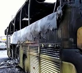 Одиннадцать пассажирских автобусов сгорело за одну ночь в Омске