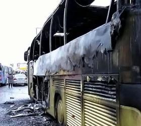 Сегодня ночью в Омске сгорели одиннадцать автобусов