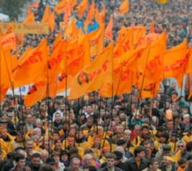Годовщина Майдана отмечена с портретами Тимошенко и с флагами США