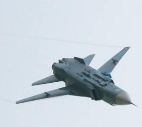 В Ростовской области сгорел бомбардировщик Су-24