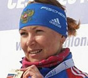 На первом этапе Кубка мира биатлонистка  Глазырина завоевала бронзу