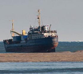 Найден спасательный плот на берегу острова Беличий