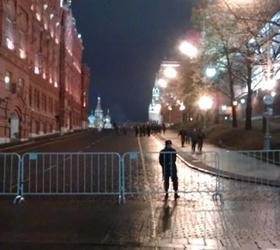 После освобождения Расула Мирзаева полицией был перекрыт центр столицы