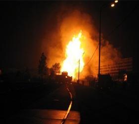 Пожар в поселке Барвиха