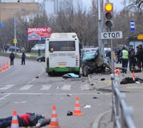 Трезвой оказалась виновница аварии на остановке в столице