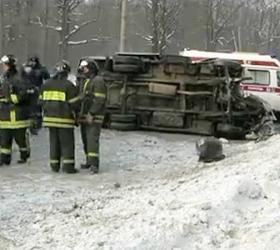ДТП в Астраханской области: перевернулась маршрутка, один из пассажиров погиб