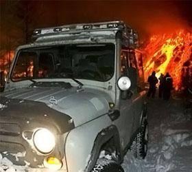 Потоком лавы с Плоского Толбачика была заблокирована  дорога к зоне извержения